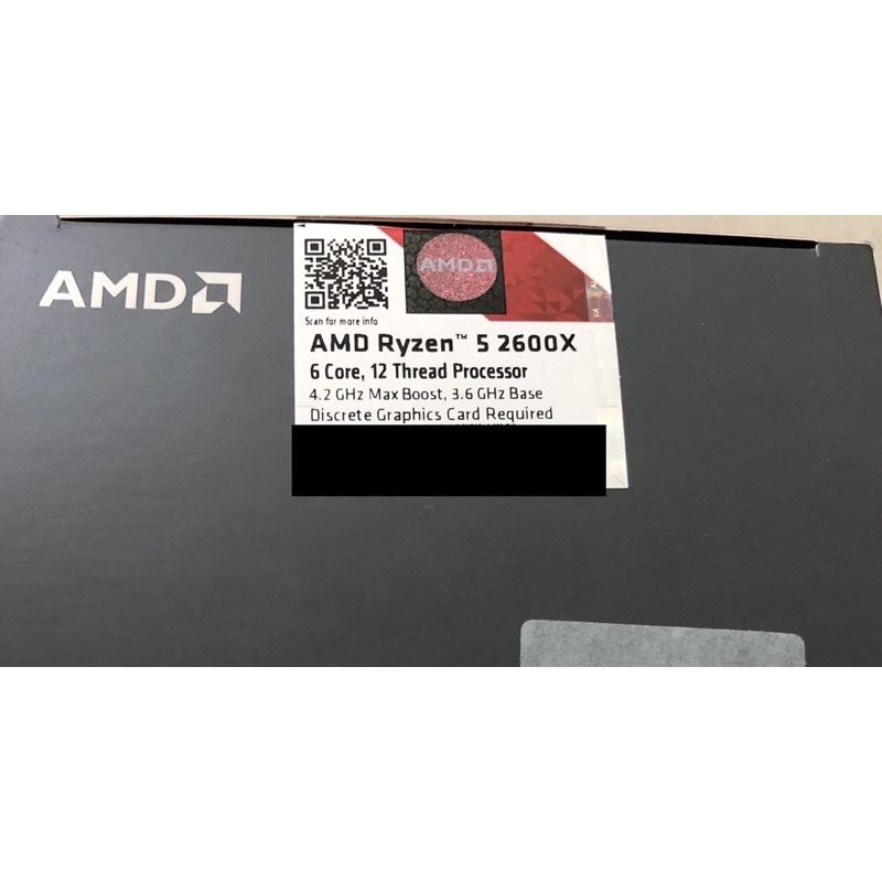 AMD R5 2600X處理器 +華碩TUF B450M-PRO主機板