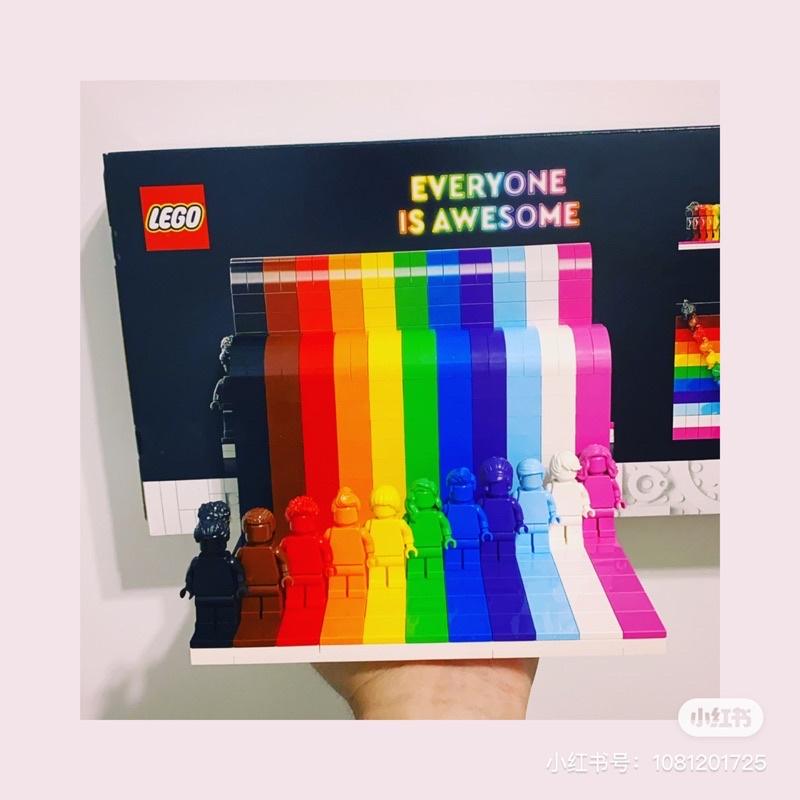 Lego 40516 彩虹 everyone is awesome 已組