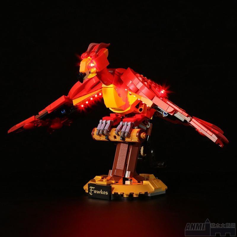 ANMI積木#兼容樂高哈利波特福克斯鄧布利多的鳳凰76394兒童拼裝積木玩具