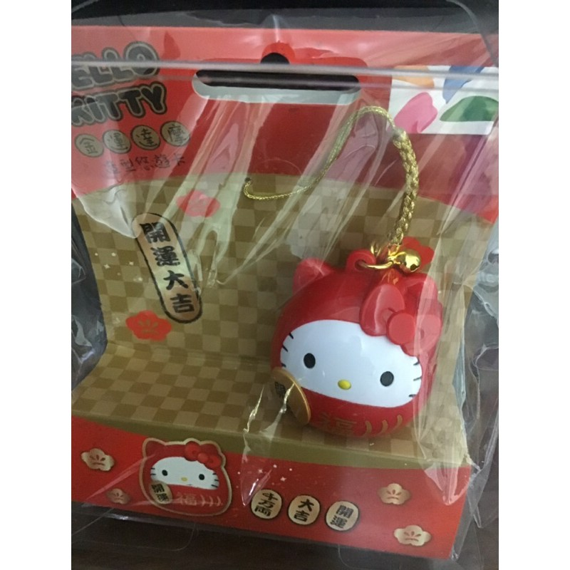 hello kitty紅達摩造型悠遊卡