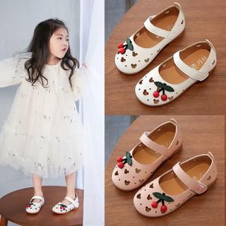 🌺牛仔褲△▨女童皮鞋春秋公主鞋學生豆豆鞋2021新款兒童鏤空單鞋韓版女童鞋子