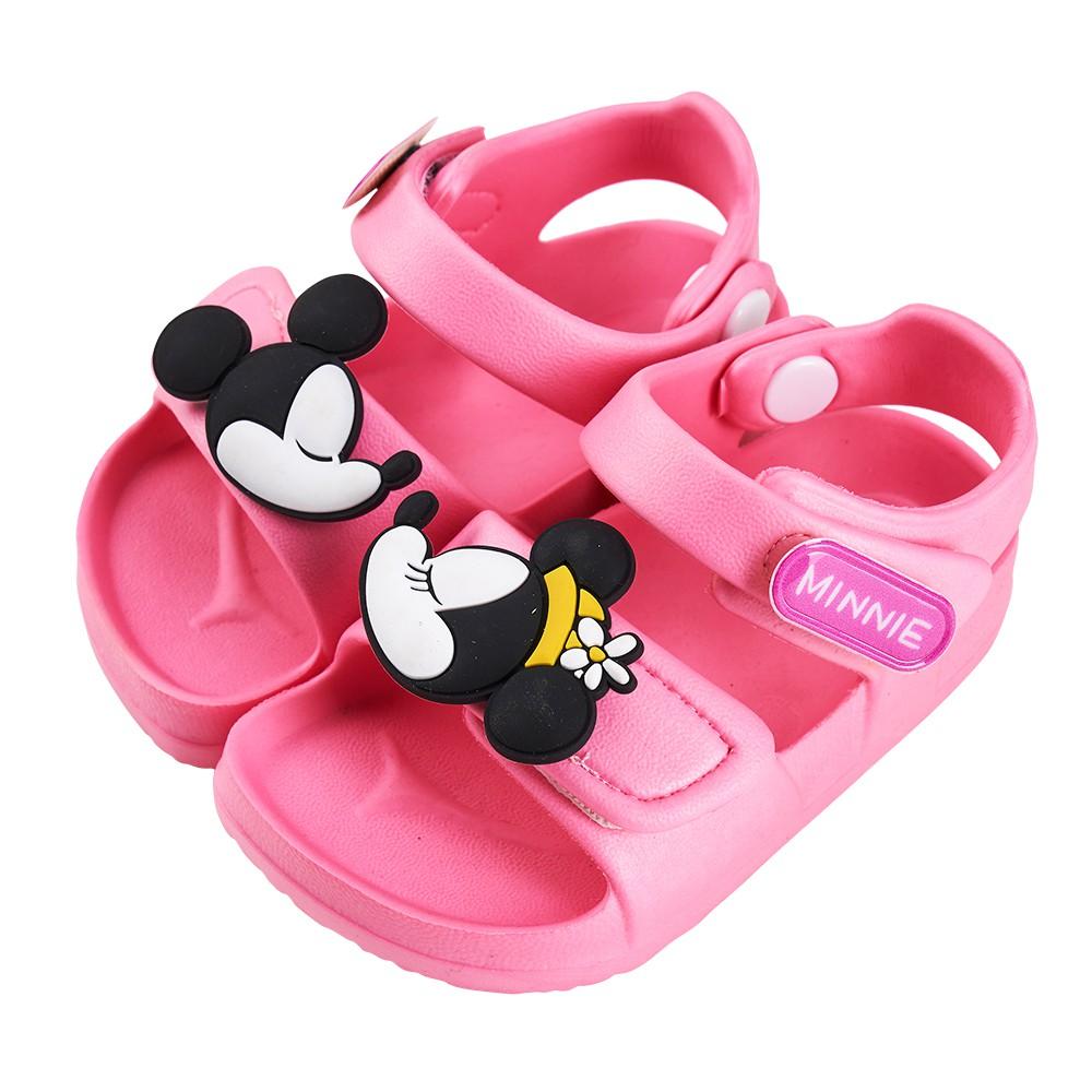 迪士尼童鞋 米妮 立體造型防水涼鞋-粉