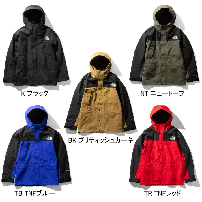THE NORTH FACE MOUNTAIN LIGHT JACKET NP11834 Gore-Tex軍綠 卡其 黑