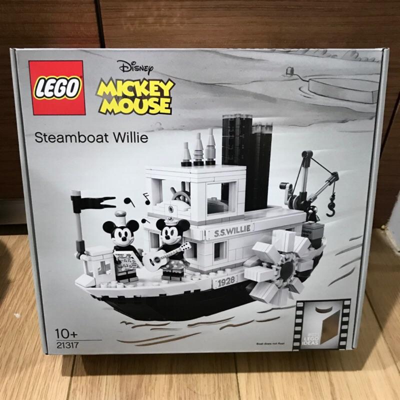 限大安區面交 限面交 盒損 全新未拆 現貨 正版 LEGO 21317 迪士尼 米奇蒸汽船 汽船威利號