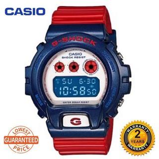 CASIO 卡西歐 G-Shock Dw6900 數字運動手錶男士手錶紅色 Gd-X6900Rd-4