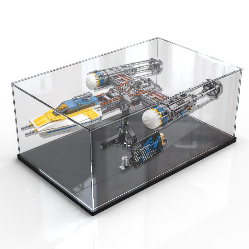亞克力展示盒樂高75181 Y-翼星際戰機透明收納盒柜拼裝罩