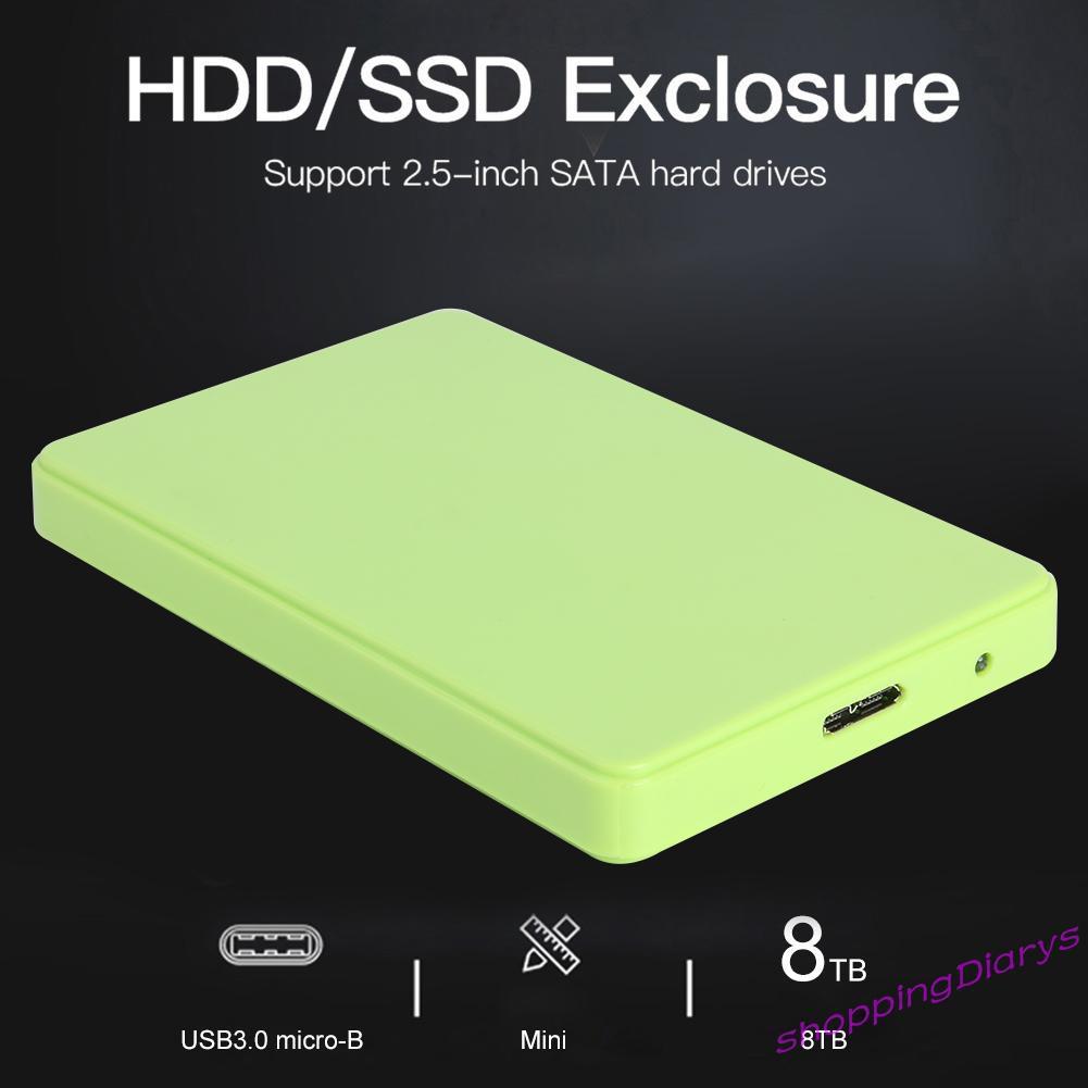 2.5 英寸 Usb 3.0 硬盤驅動器磁盤機箱 8tb 6gbps Hdd Ssd 移動外接盒