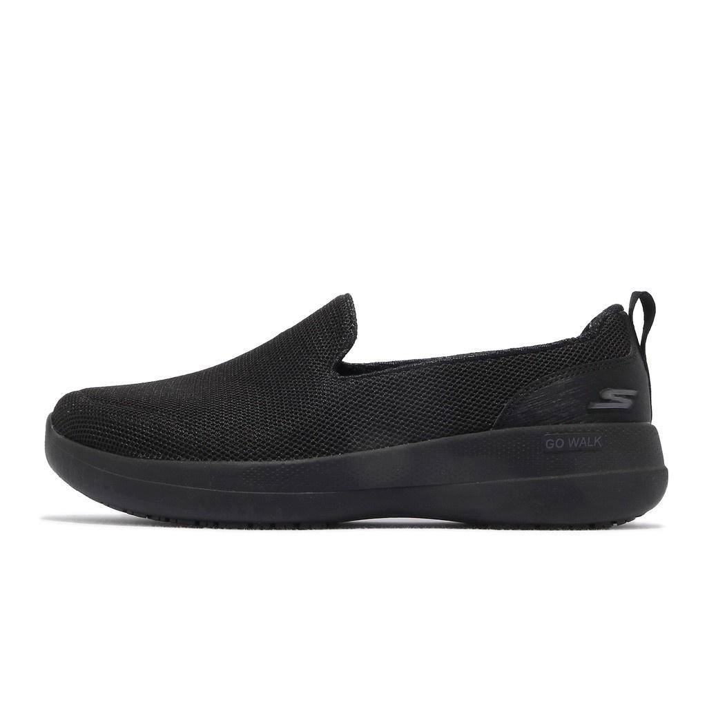 Skechers 健走鞋 Go Walk Stability 寬楦頭 女 黑 休閒鞋 【ACS】 124600W-BBK