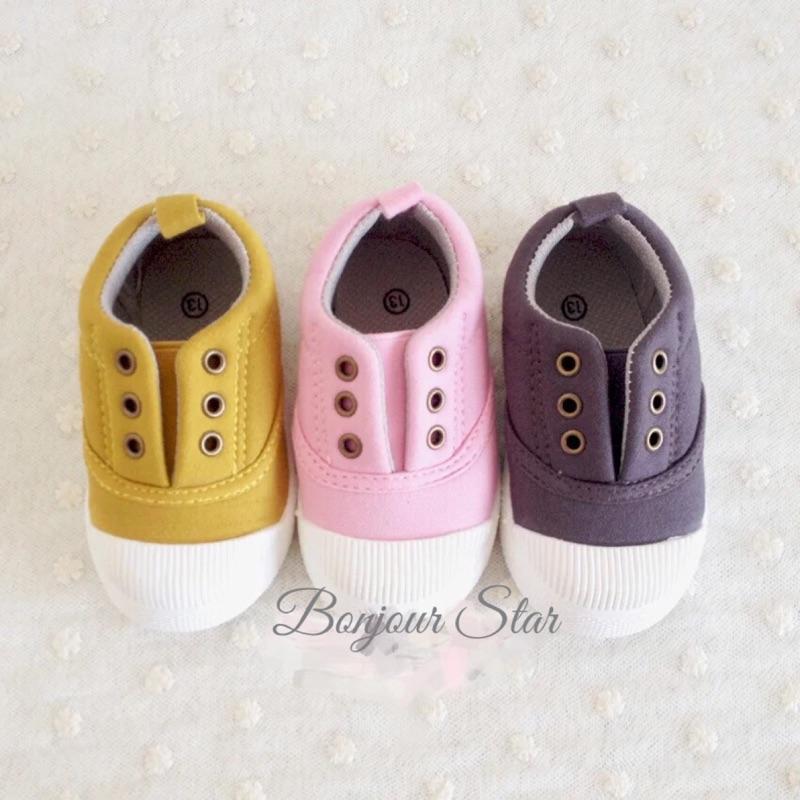 ➕Bonjour Star➕新款 寶寶男女童超舒適帆布鞋懶人鞋學步鞋