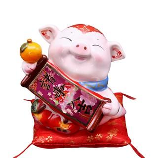 【金石工坊】己亥年生肖豬年-諸事大吉豬撲滿(中) 陶瓷撲滿擺飾 新北市