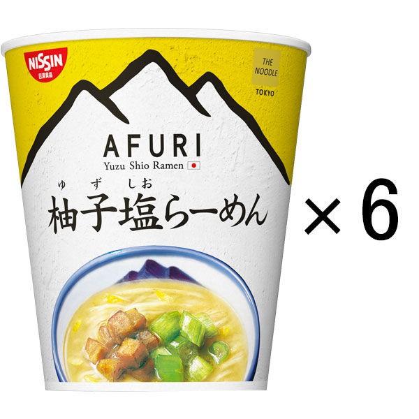 日清NISSIN x 阿夫利AFURI 柚子塩拉麵MINI 6入裝 J934057