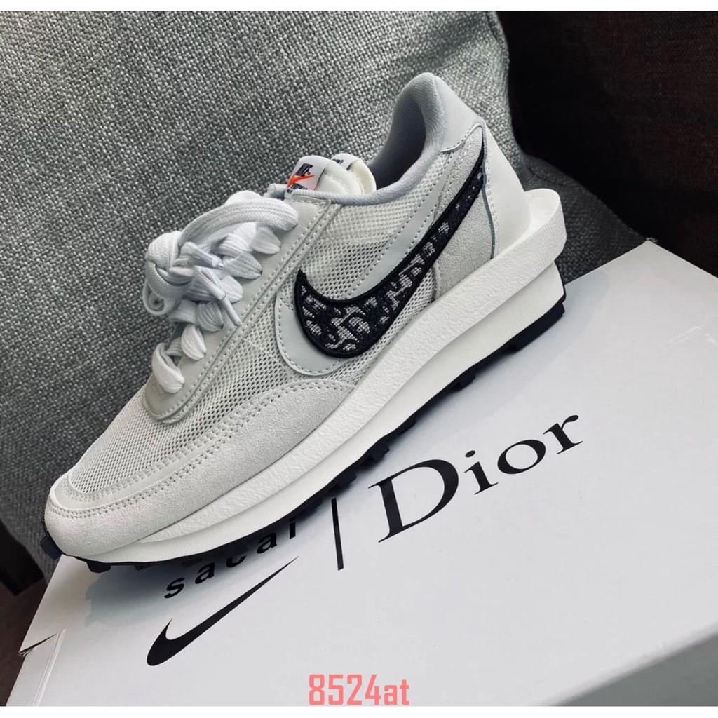 AD-Nike x Sacai x Dior 聯名 20新款 白灰 休閒鞋 預購