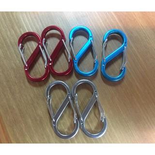 【豪野家HOYAKA露營用品】S釦 露營掛繩S鉤(單入) 顏色隨機出貨 8字釦 台南市