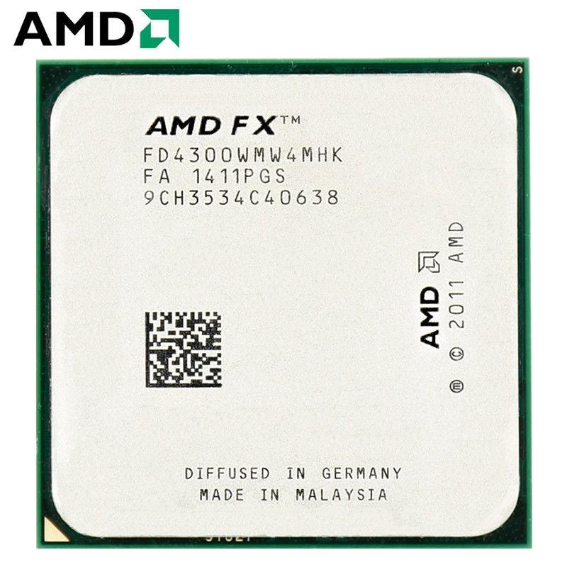 二手AMD FX4100 4130 4300 6100 6200 6300 6350 推土機AM3+ 六核CPU