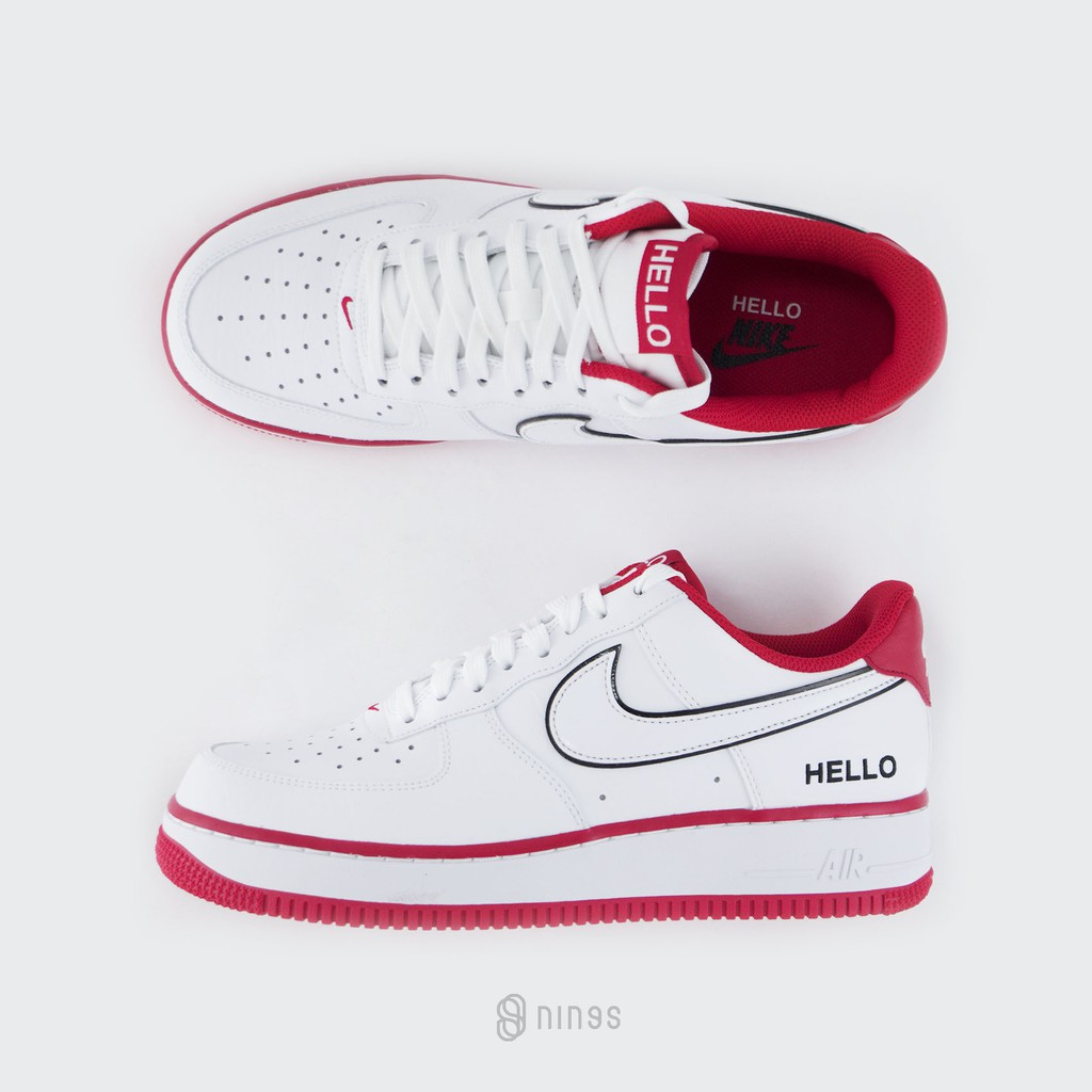 "NIKE AIR FORCE 1 LOW ""HELLO"" 紅線 哈囉 CZ0327100"