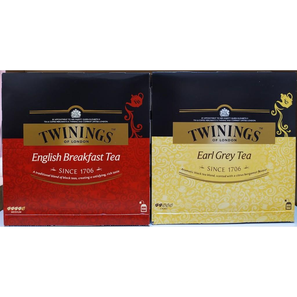 (預購) 好市多 TWININGS 唐寧 皇家伯爵茶 / 英倫早餐茶 紅茶 唐寧茶 早餐茶 伯爵茶 100包