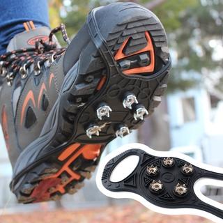 途途戶外 新升級戶外5齒冰爪 防滑鞋套雪地裝備登山鞋釘 簡易五齒8字城市冰爪