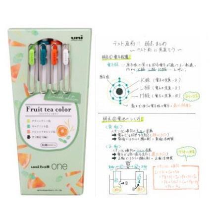 日本 代購日本uni ball one三菱小濃芯限定水果色中性筆春夏按動水筆黑筆