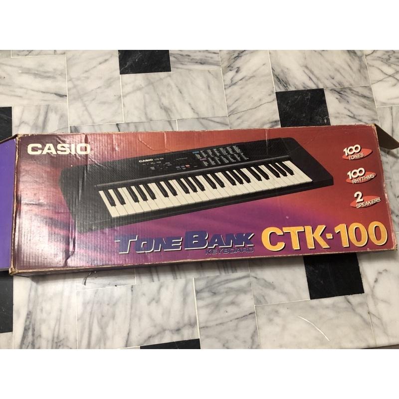 【二手】CASIO CTK-100 電子琴 缺充電器 可正常使用