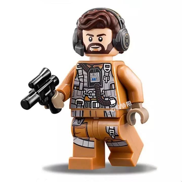 ✨樂高✨樂高lego 星球大戰 人仔 sw883 反抗軍飛行員 75195 含槍