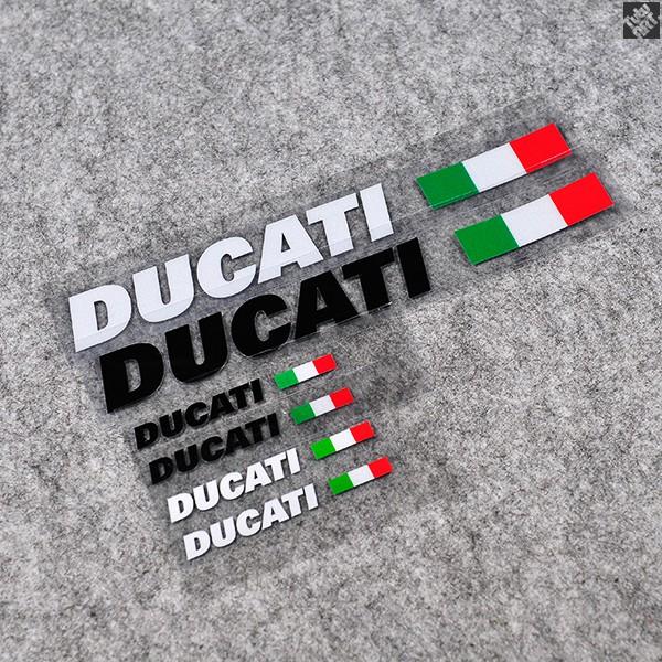 MTS1200意大利國旗車貼DUCATI油箱車身裝飾反光貼