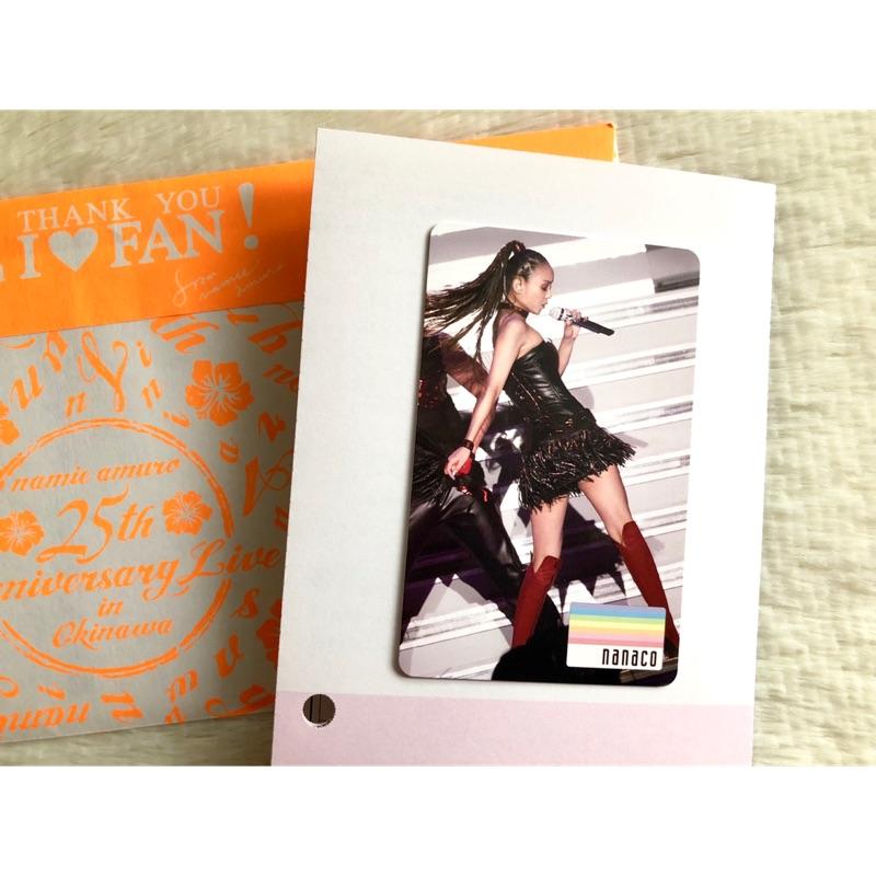 現貨 安室奈美惠 日本限定nanaco卡 25th Final Tour演唱會