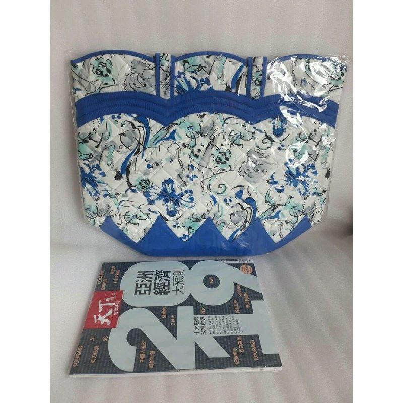 全新NaRaYa 大包 泰國曼谷包 藍色花紋大包 肩背包 手提包 媽媽包 上班包 筆電包平板包 實用大方 特價
