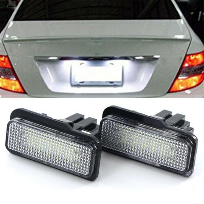 奔馳W211專用LED車牌燈BENZ牌照燈W203 S211 W219 R171後車牌號碼燈