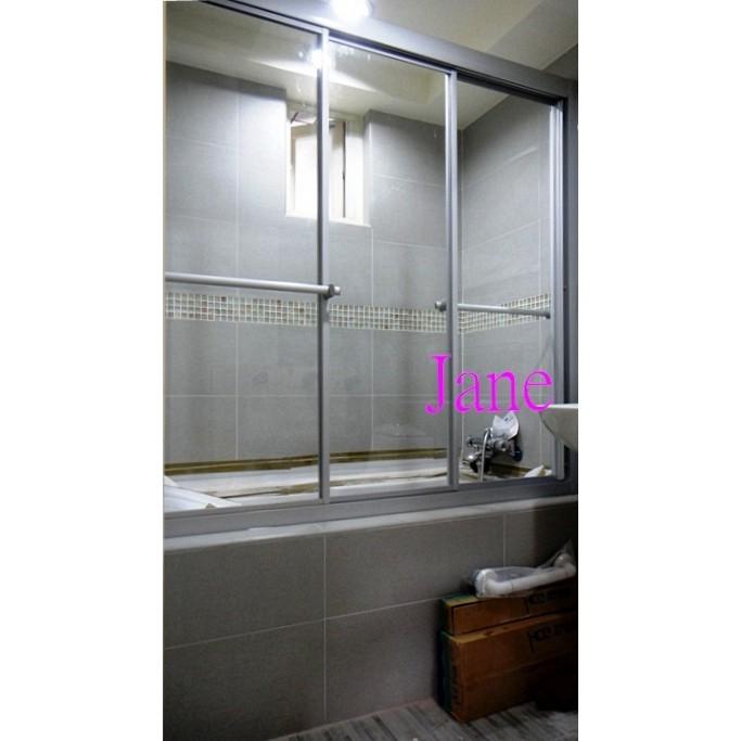 【雅緻專業淋浴拉門1館】免費丈量 台灣製 SG13bb銀珠框一字三門清強化玻璃淋浴門乾濕分離衛浴拉門乾溼分離沐浴門浴缸上