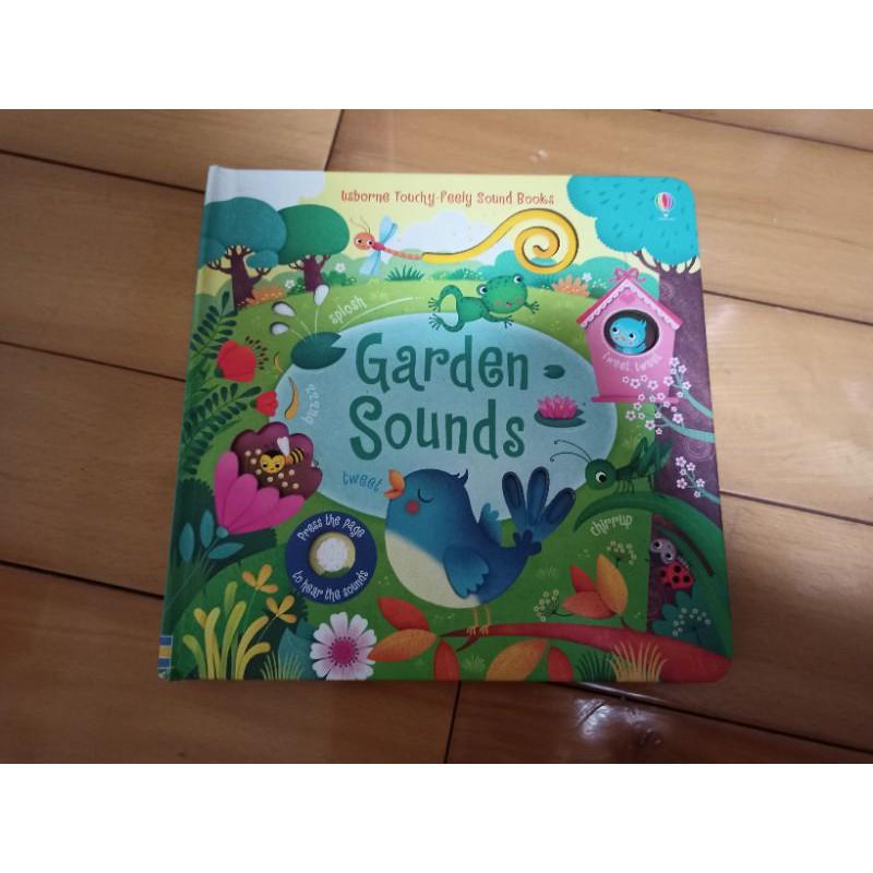 二手 Usborne Garden sounds 英文 硬頁繪本