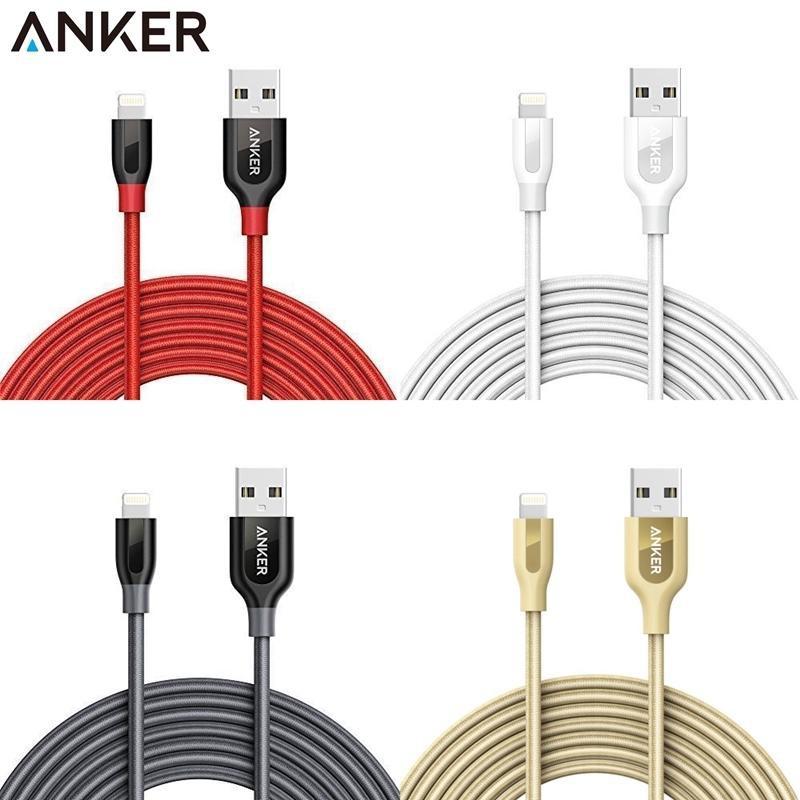 耀您館Anker三米Powerline+編織Apple充電傳輸線lightning充電線iphone X 8 7 6 +