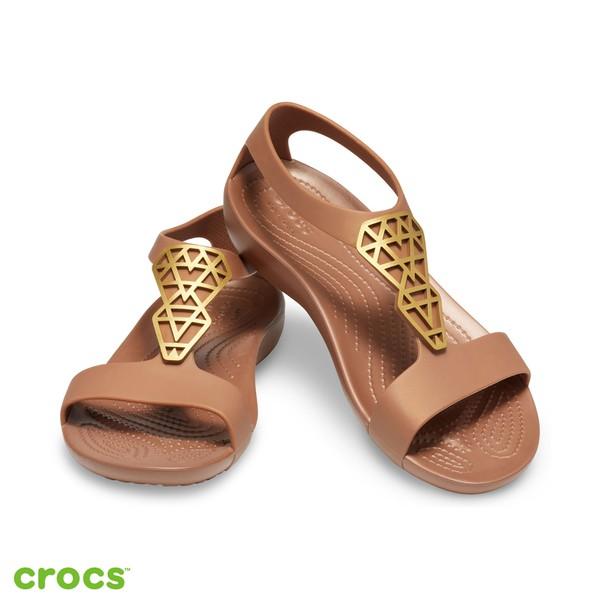 美國Crocs 卡駱馳 (女鞋) 瑟琳娜造型涼鞋 205601-860 │碧綠商行