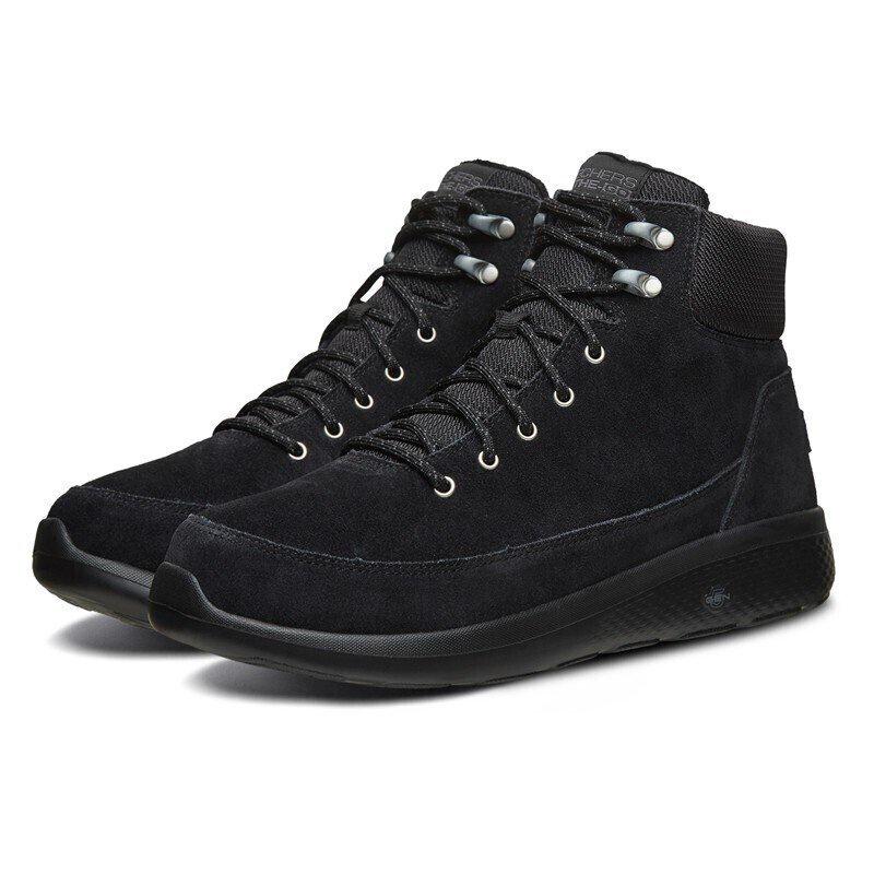 斯凱奇 Skechers短靴男 舒適保暖絨毛高幫鞋661026