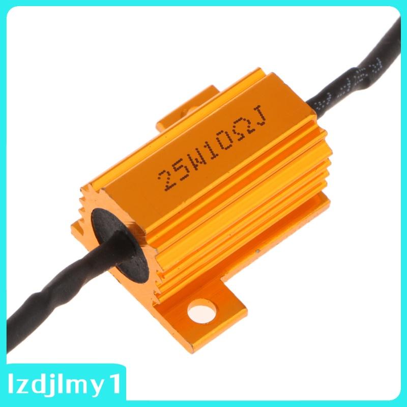 Speedy World 2pcs負載電阻器25W 10Ohm固定發光二極管燈泡閃光燈