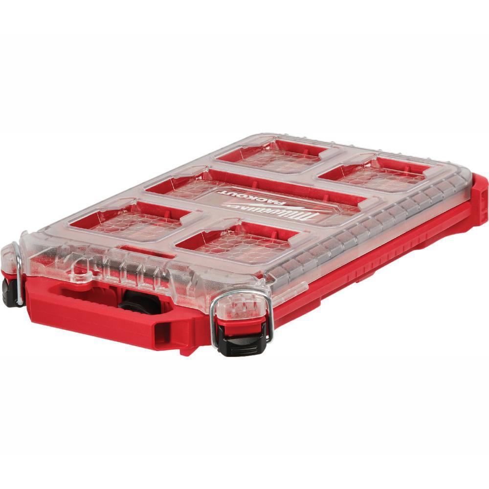 【中台工具】特價 零件箱 Milwaukee 米沃奇 美沃奇 48-22-8436 配套智能收納箱 薄小 可堆疊 工具盒
