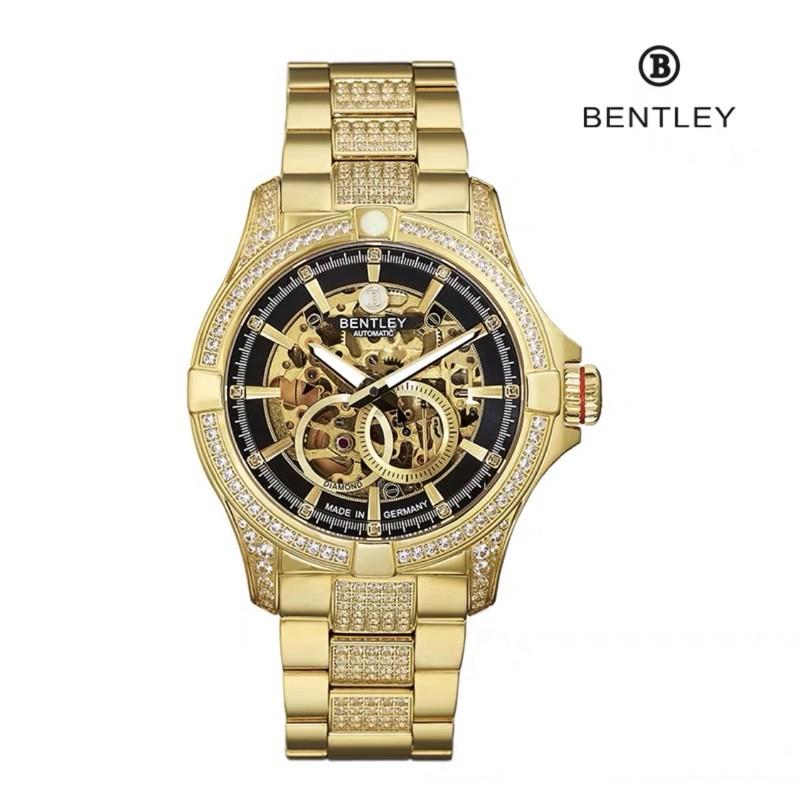BENTLEY機械真鑽錶 原價17萬 真鑽滿天星 陀飛輪 附保卡 鑒定證書