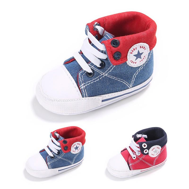 童鞋 新款童鞋嬰幼童寶寶鞋嬰兒鞋0-1歲春秋男女寶寶帆布休閒嬰兒學步鞋