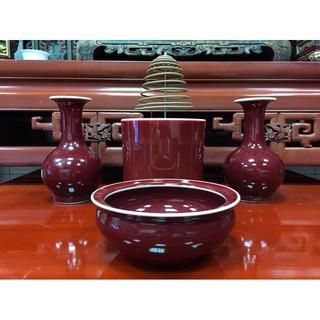 釉紅系列瓷器 斗爐 香環爐 花瓶 神明用品 高雄市