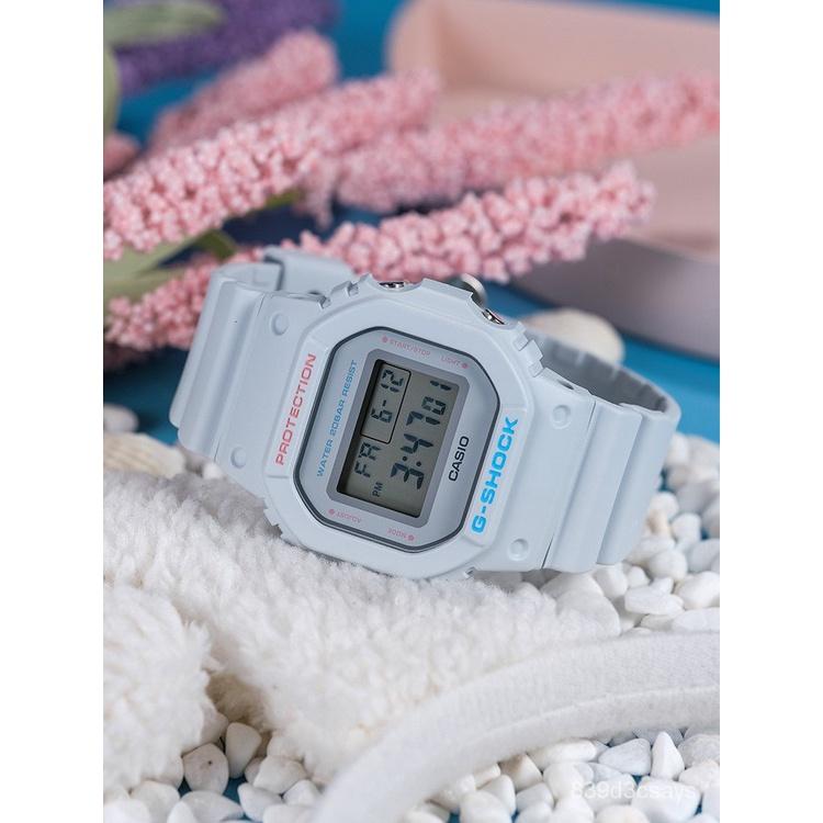 卡西歐手錶女gshock小方塊運動經典時尚方表學生電子錶DW-5600SC