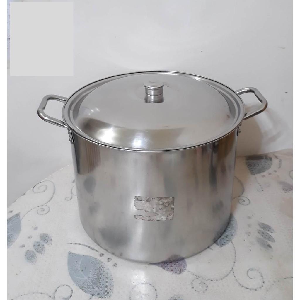 【現貨_快速出貨】二手_ 36 cm不鏽鋼 大湯桶(雙耳)湯鍋/滷桶/湯桶/滷鍋/燉鍋/深鍋/白鐵鍋/不銹鋼鍋/高鍋