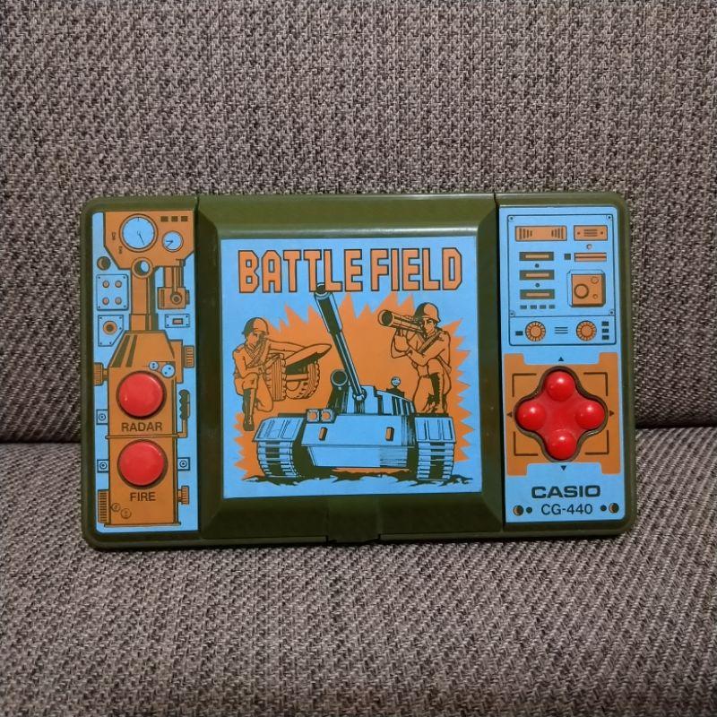 正版 早期 絕版 CASIO BATTLE FIELD 戰地風雲 掌機 卡西歐 CG-440 掌上型遊戲機