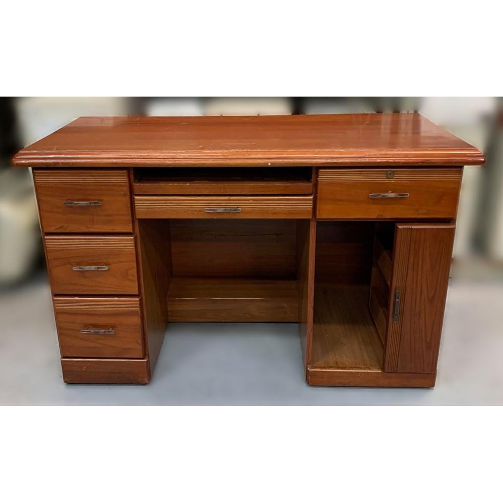 【宏品二手家具館】 台中中古古董家具家電賣場 E31913*實木電腦桌 書桌* 2手桌椅 餐桌 會議桌 辦公桌