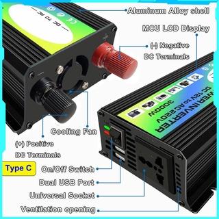 3000w 12v 至 220v /  110v 雙 Usb 汽車電源逆變器轉換器修改波