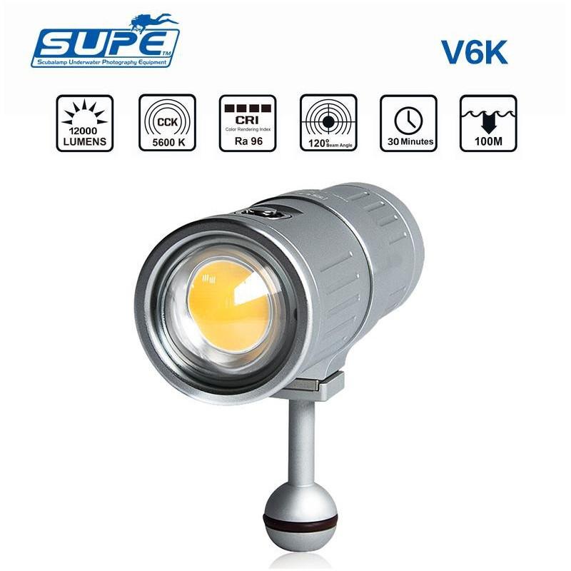 SUPE V6K 影視級潛水攝影燈 12000流明補光燈