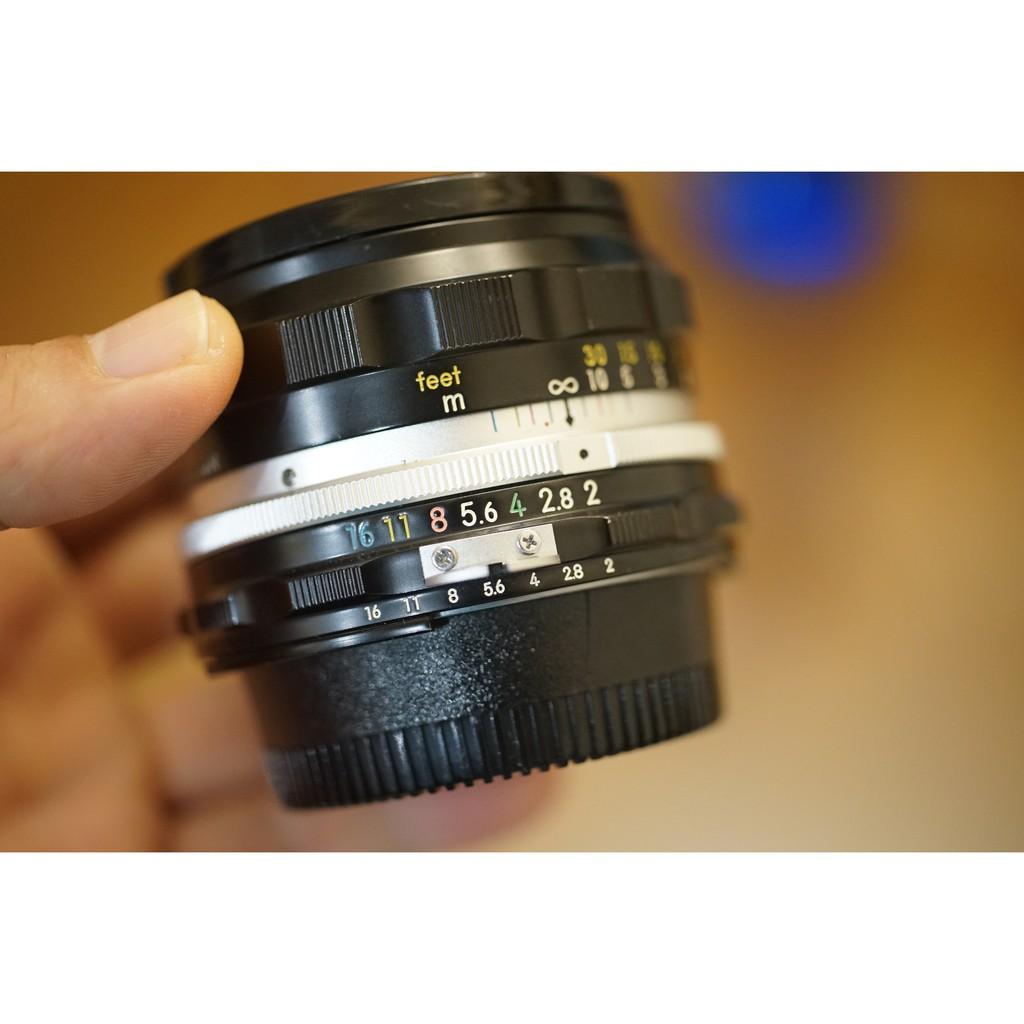 尼康 Nikon H.C. auto 50mm F2 標準定焦鏡(附aid環)轉接環直上Sony E 卡口