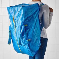 34*ikea BRATTBY 袋子塑膠袋購物袋藍色袋子彩虹袋子