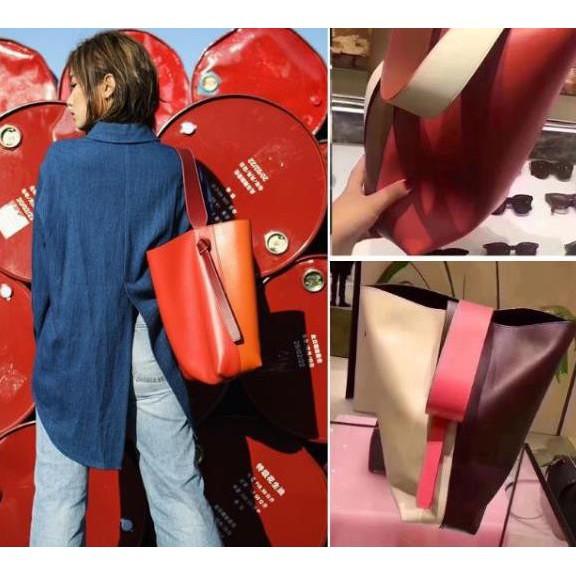 全新Celine Twisted Cabas拼色可調節 手提包 水桶包 肩背包 寬肩帶 手提