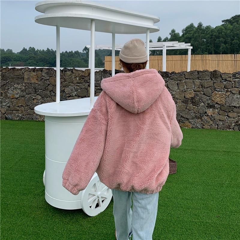 《JJH.room》現貨 穿上瞬間敲可愛的QQ毛連帽外套 #兩色