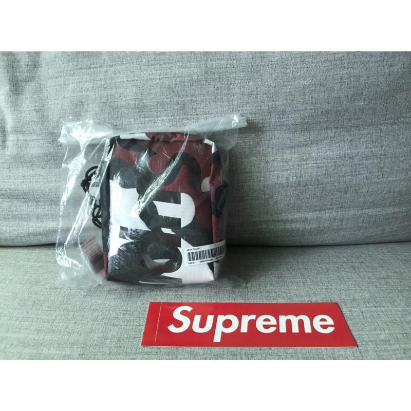 Supreme 50th 2021 S/S neck pouch 斜背小包 紅黑色 迷彩 美國官網購入 50代