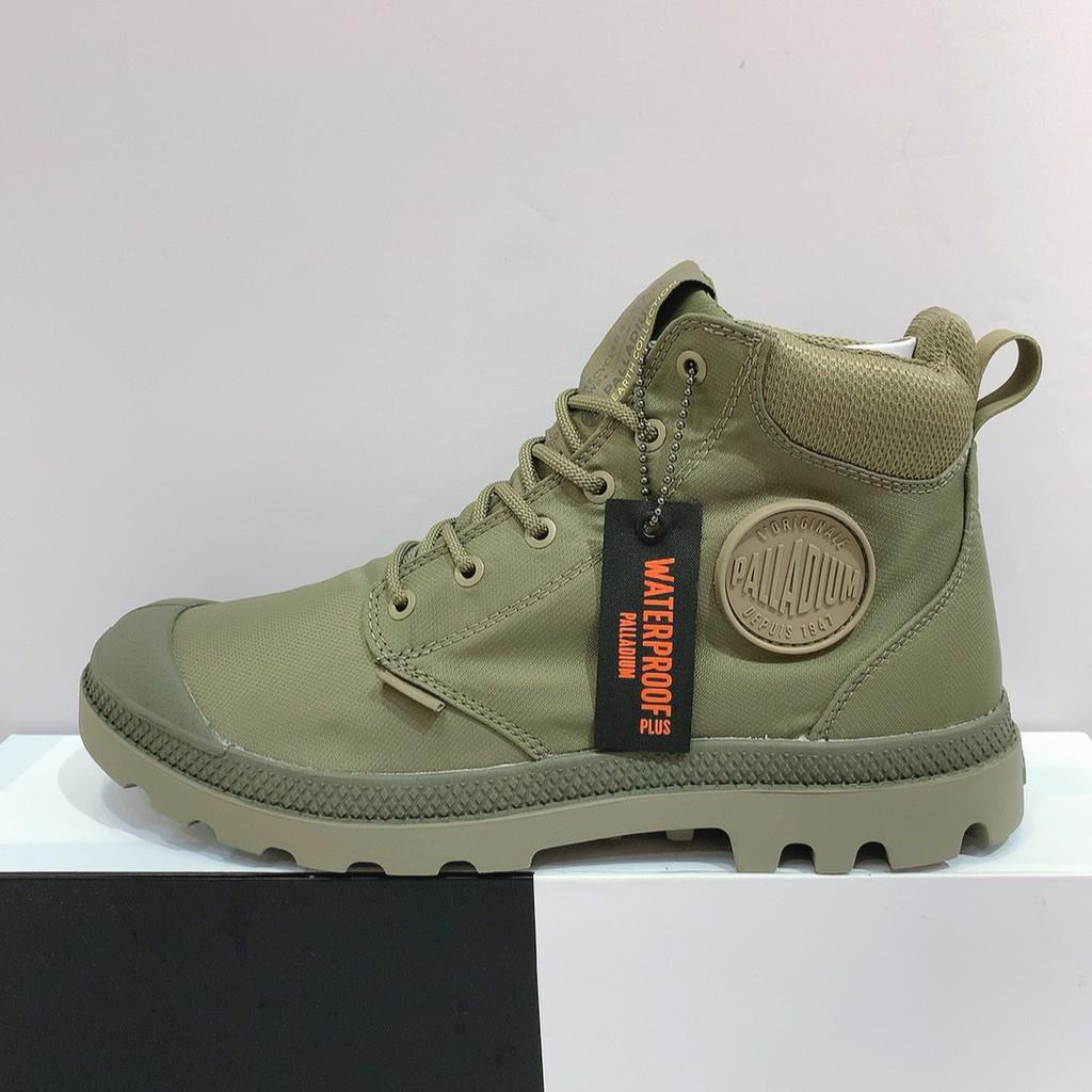 PALLADIUM CUFF RECYCLE WP+ 男生 綠色 防水 輕量 永續循環 高筒靴 06654-377